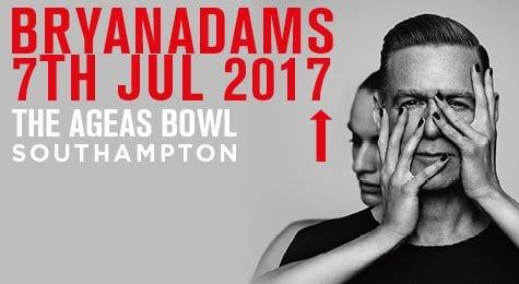 ROCK LEGEND BRYAN ADAMS HEADING TO SOUTHAMPTON IN 2017