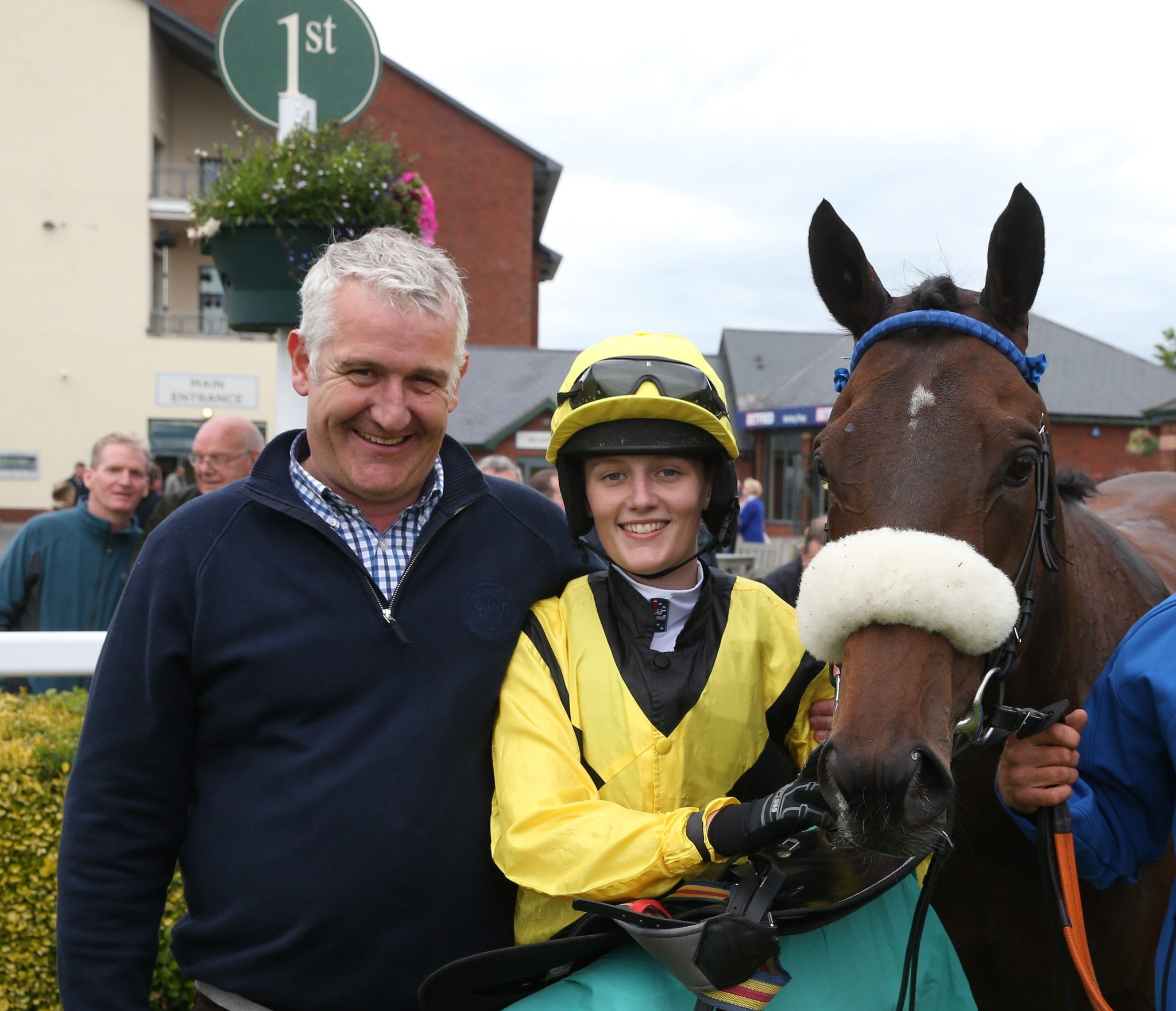 Red Rum trainer Ginger McCain's granddaughter wins first race aged 16