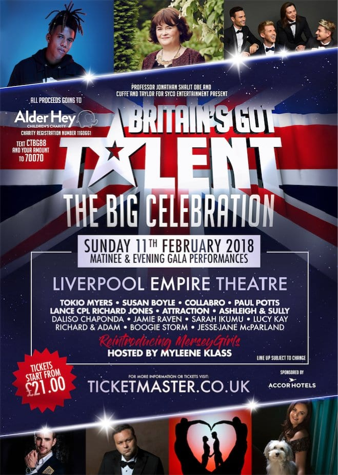 BRITAIN'S GOT TALENT LEGENDS TO UNITE  FOR CHARITY CONCERTS