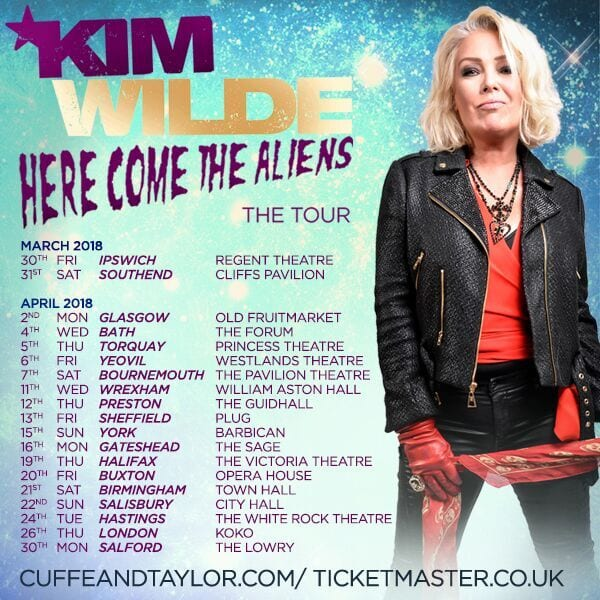 KIM WILDE – HERE COME THE ALIENS TOUR – SPRING 2018