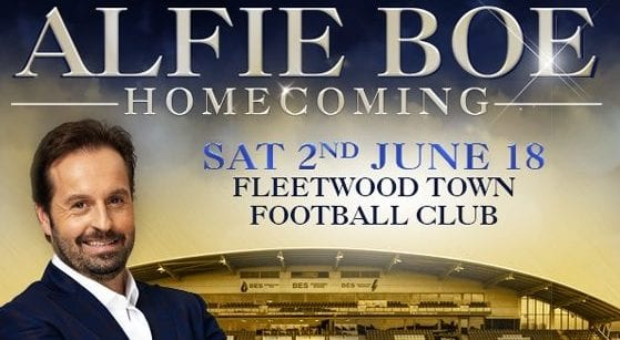 ALFIE BOE ANNOUNCES FLEETWOOD HOMECOMING CONCERT