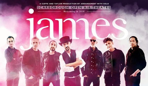 INDIE GREATS JAMES TO PLAY SCARBOROUGH OPEN AIR THEATRE