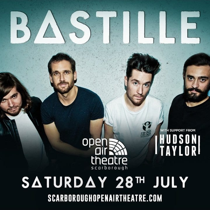 HUDSON TAYLOR JOIN BASTILLE FOR SCARBOROUGH OPEN AIR THEATRE DATE