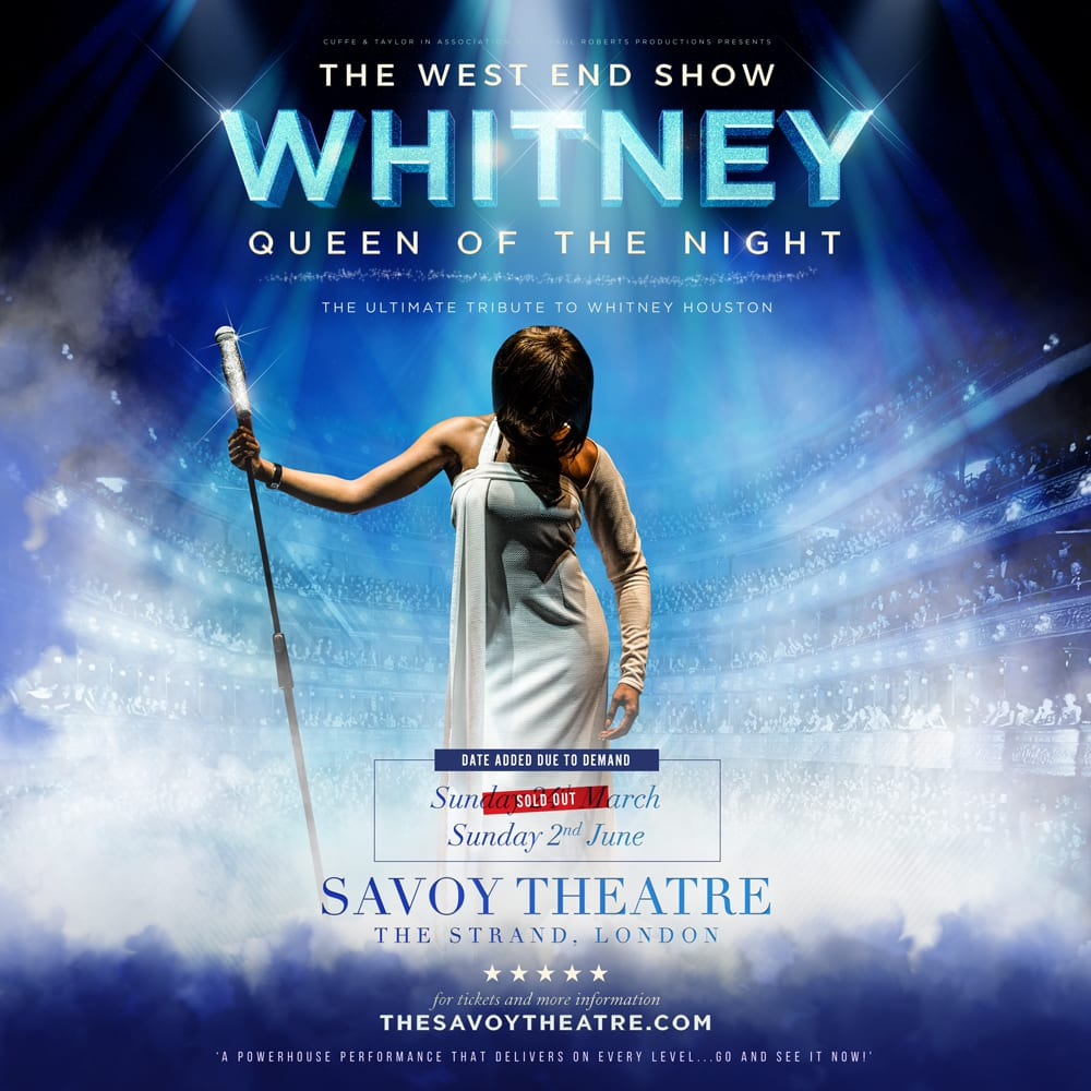 Premiere West End performance of international Whitney Houston tribute show