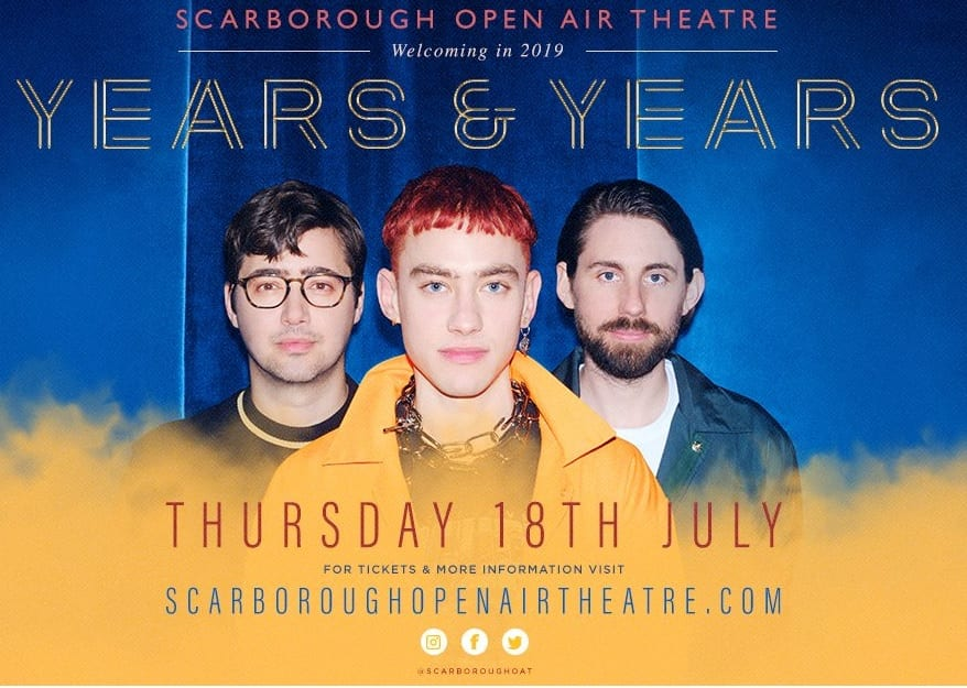 Years & Years join headliners at Scarborough OAT 2019