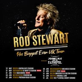 JOHNNY MAC & THE FAITHFUL JOIN ROD STEWART'S SUMMER STADIUM TOUR