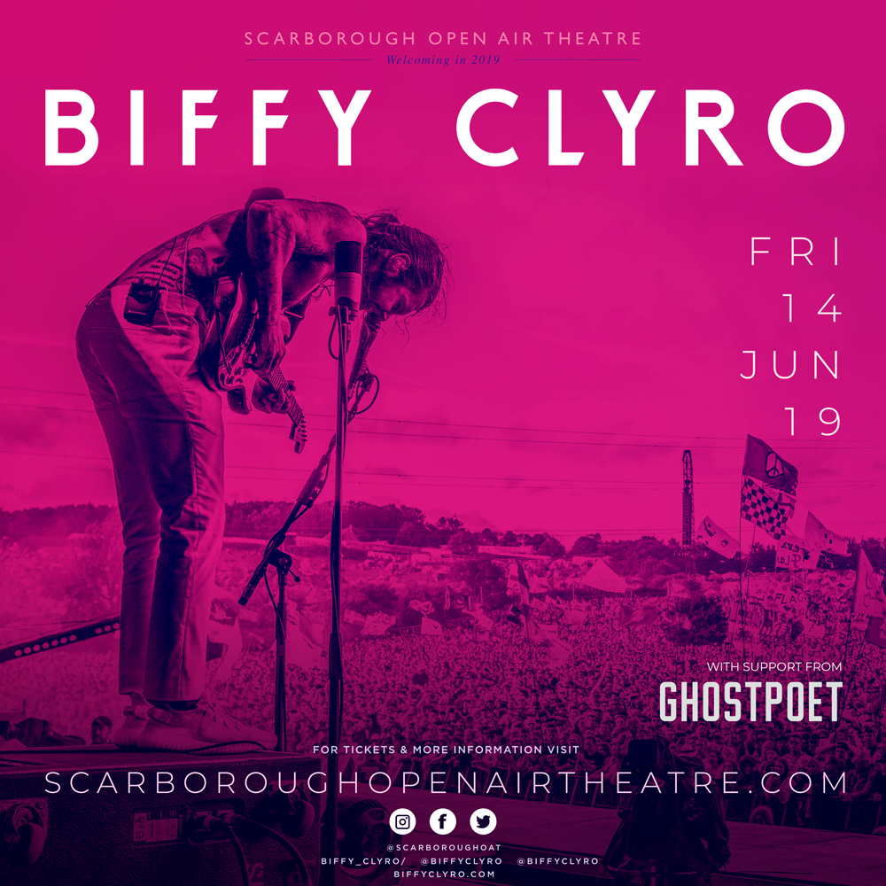 BIFFY CLYRO TO ROCK YORKSHIRE IN ONLY UK MAINLAIND SUMMER GIG