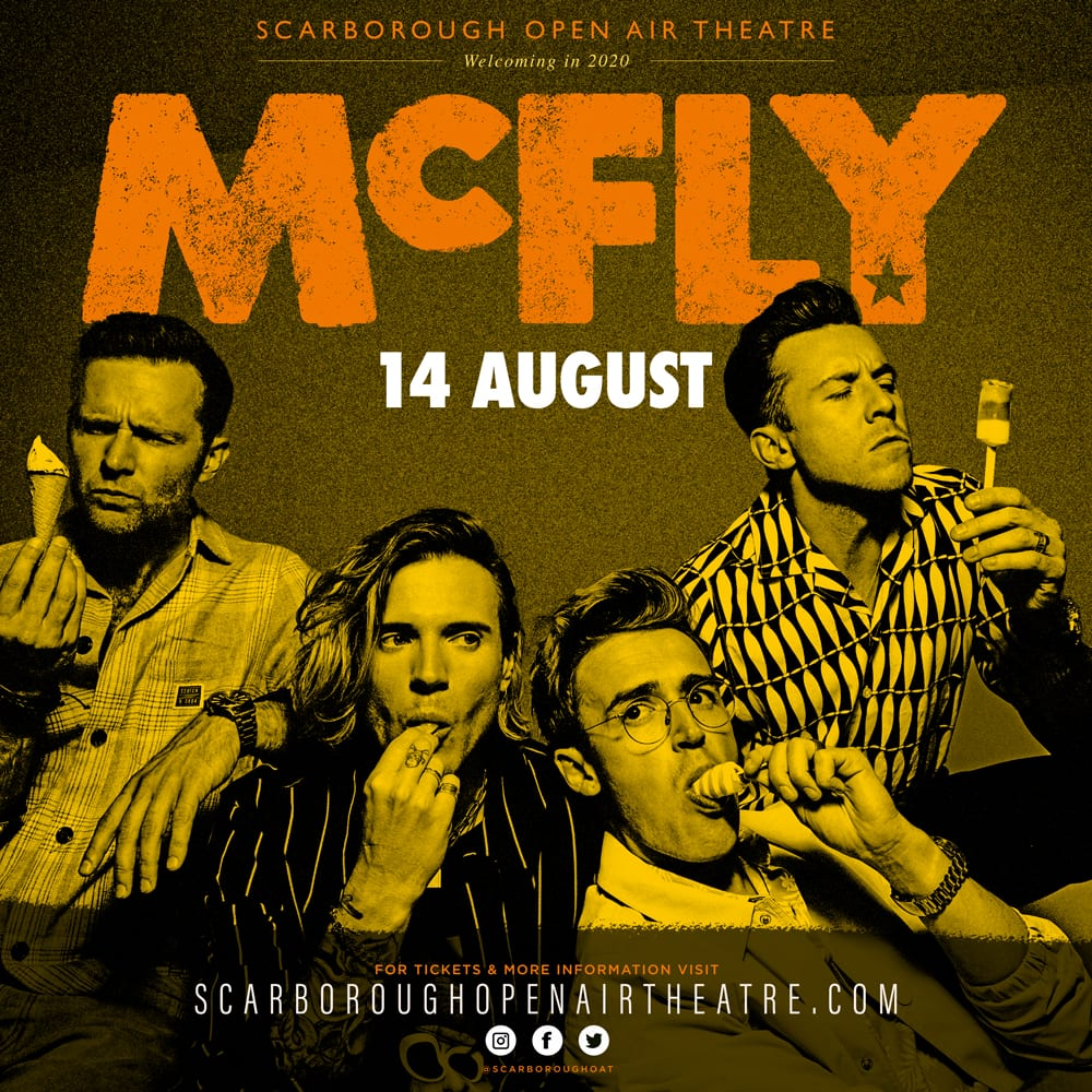 Mcfly unveiled as Scarborough OAT's first Summer 2020 headliners