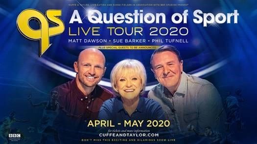 A QUESTION OF SPORT CELEBRATES 50th ANNIVERSARY WITH 2020 LIVE TOUR