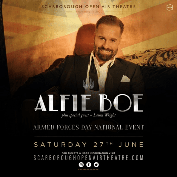 ALFIE BOE TO HEADLINE SPECIAL ARMED FORCES DAY CONCERT