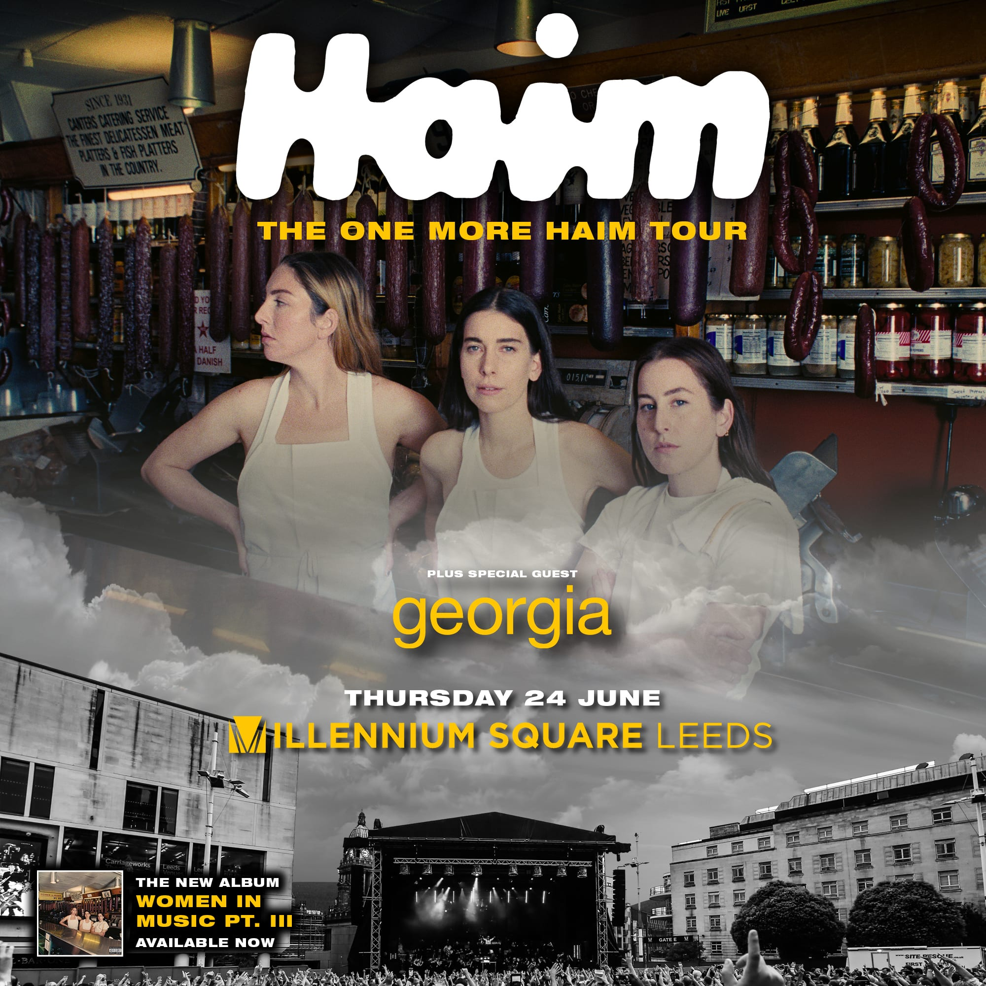 HAIM ADD SPECIAL LEEDS OUTDOOR SHOW TO 2021 UK TOUR