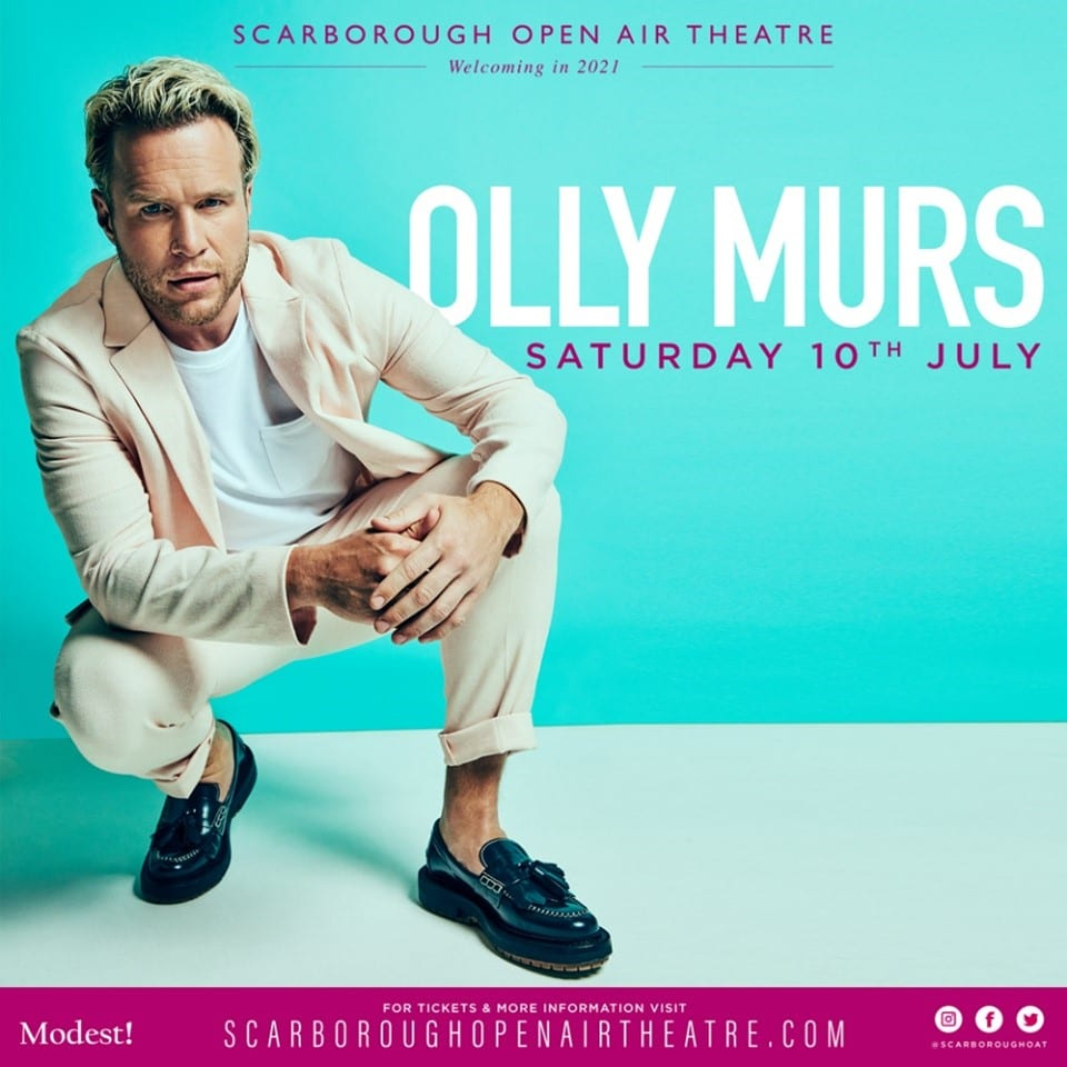 Olly Murs Brings Summer 2021 UK Tour to Yorkshire Coast
