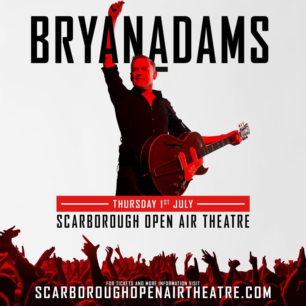 BRYAN ADAMS ANNOUNCES MASSIVE OUTDOOR UK TOUR