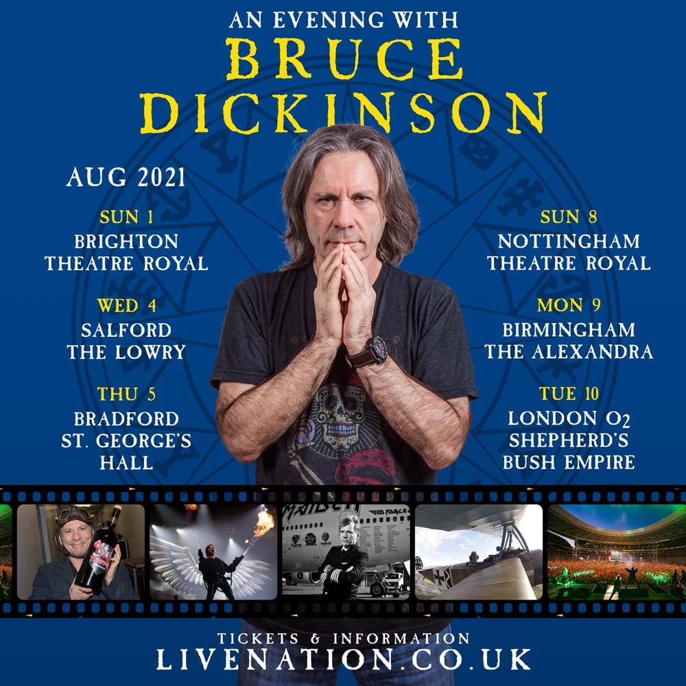 AN EVENING WITH BRUCE DICKINSON – UK SHOWS ANNOUNCED