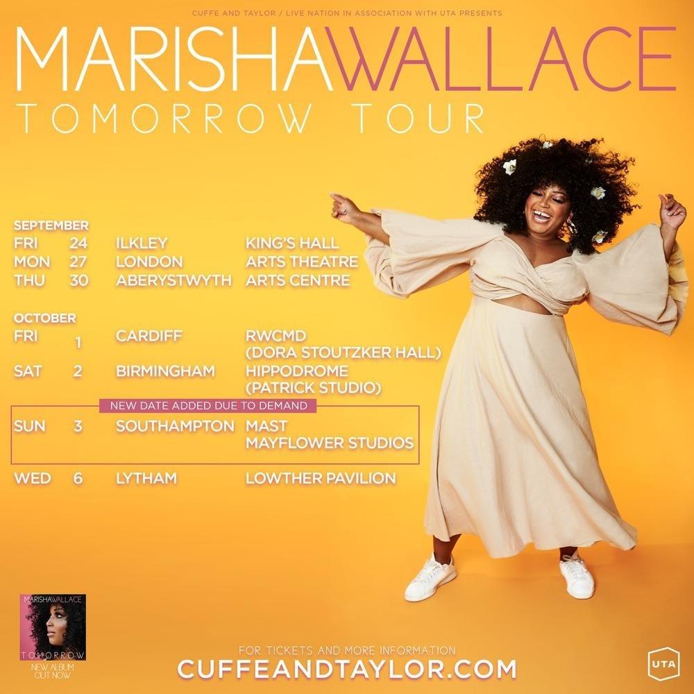 MARISHA WALLACE ADDS SOUTHAMPTON DATE TO 2021 UK TOUR
